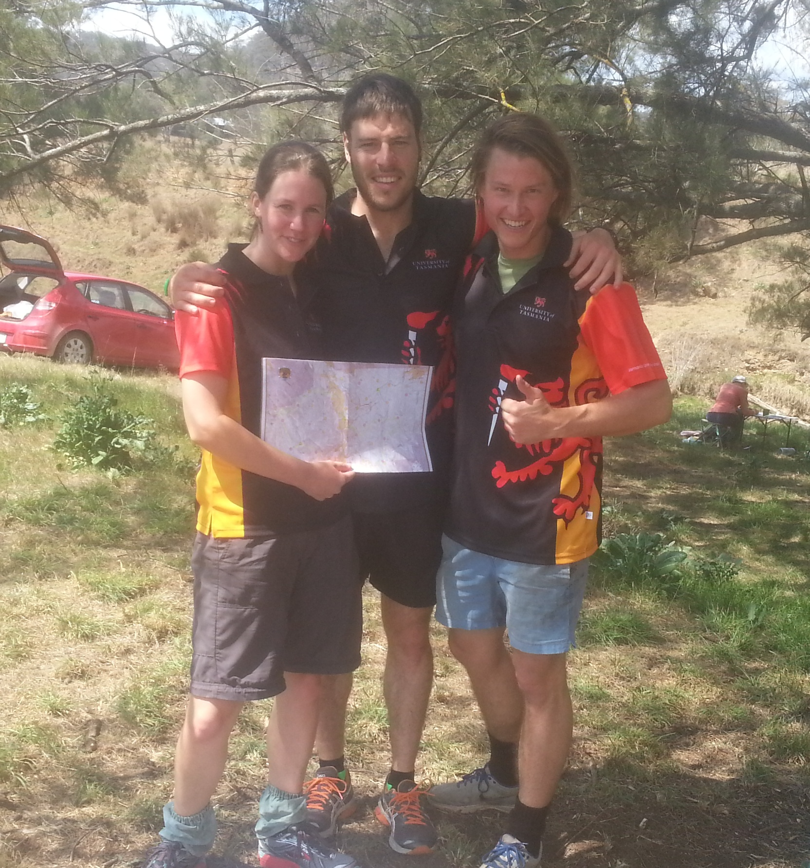 Jess Fuller-Smith, Omar Martin-Gonzales and Charles Hooley after competing in the Australian Intervarsity Championship